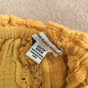 American Eagle Outfitters Tops - American Eagle yellow crop top